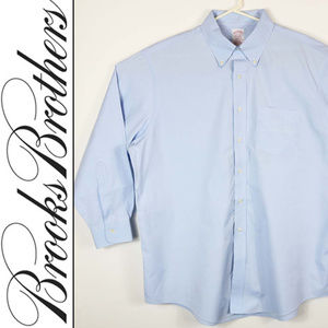 Brooks Brothers Mens Size 17.5 Button Up Est.1818